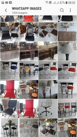 Banquetas mesas cadeiras bistros - Foto 4