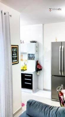 Apartamento com 2 dormitórios para alugar, 40 m² por R$ 1200/mês - Vila Floresta - Santo A - Foto 8