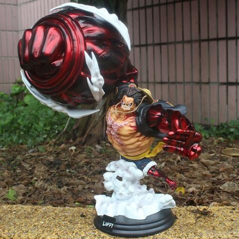 Promo Black Action Figure Luffy Gear 4 King Kong Gun Gk 43cm