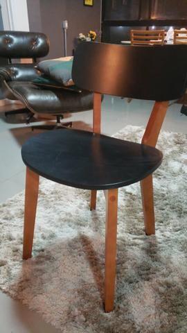 Vendo Cadeira Nozes Preto Hibisco (Tok&Stok) - Foto 3