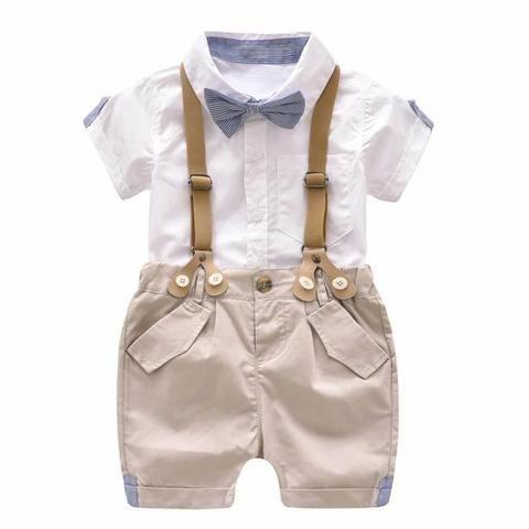 Conjunto bebê suspensório social - Foto 4