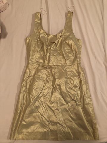 Vestido tam.38 dourado