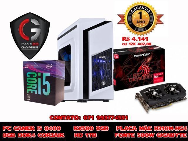 Computador Gamer Intel I5 8400 Rx 580 8gb, HD 1TB, 500w Real, 8gb Ddr4, H310M HG4