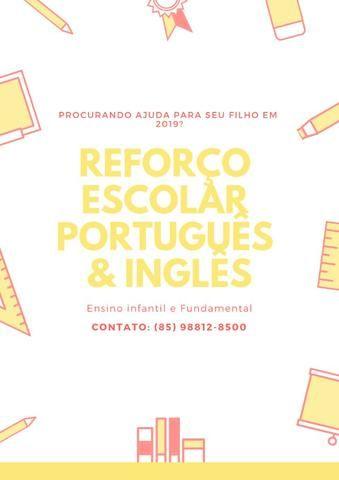Aulas de reforço de português e inglês