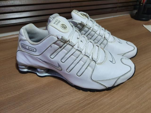 b8fced78477 Tênis Nike Shox Nz - Branco e Prata - Tamanho 43 (11.5) - 100% Original