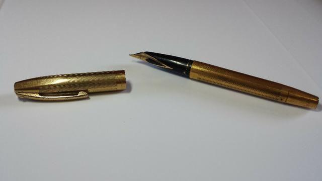 Caneta tinteiro Sheaffer Ouro 23k Anos 50/60 usa - Foto 3