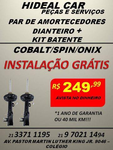Amortecedores dianteiro do Cobal/Spin/Onix instalação gratis com kits parcial
