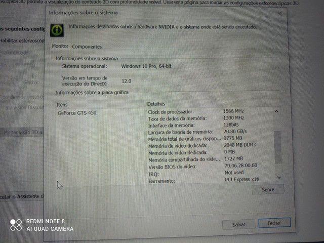 Computador Gamer Monitor/Tv 42p Placa de Vídeo completo. - Foto 5