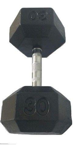 Dumbell Hexagonal Pintado Par de 12 kg a 20 kg Com Suporte