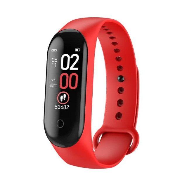 relógio de fitness pressão arterial monitor freqüência cardíaca - Foto 4