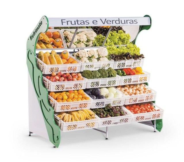 Expositor de frutas e verduras 12 caixas pronta entrega (Guilherme