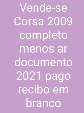 Vende-se Corsa 2009