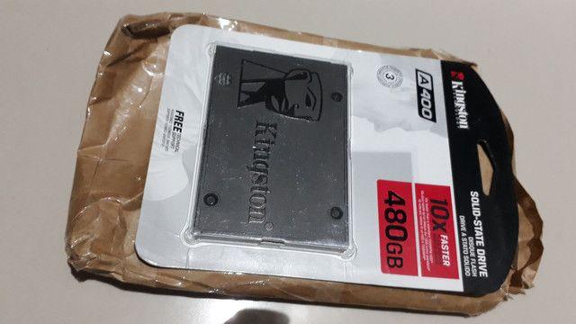 SSD Kingston 480GB lacrado pra acelerar seu computador. Só hoje R$ 499