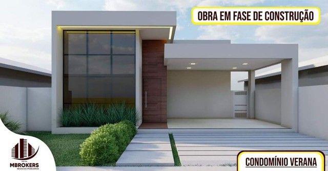 Casa em construção no condomínio Verana *