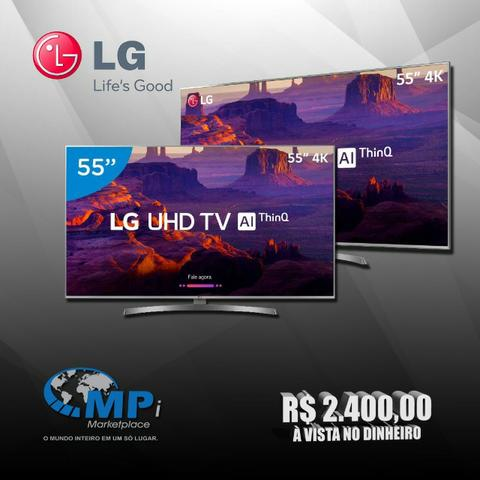 Smart TV 4K Led 55? LG 55UM7470PSA Wi-Fi HDR Inteligência Artificial Control Smart Magic