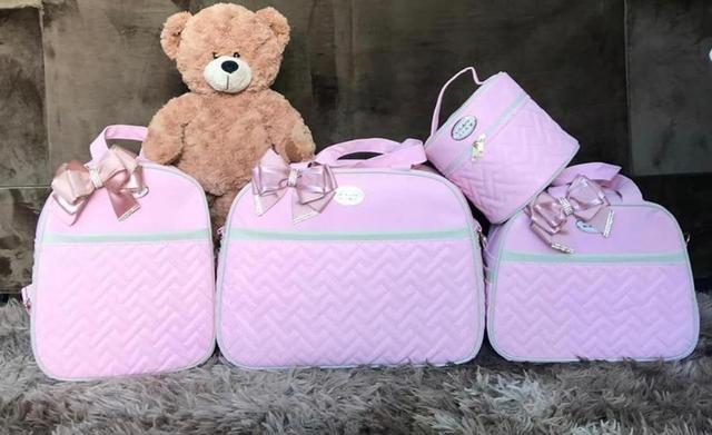 Kit Bolsa Maternidade Luxo com Mochila- 5 peças