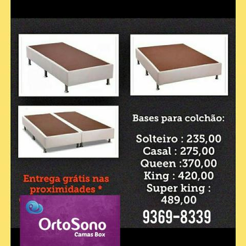 Base de Cama box Padrão, Queen King etc