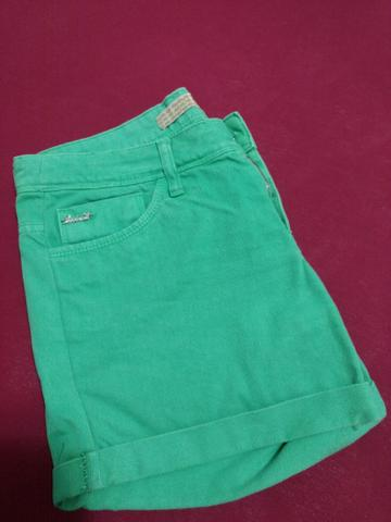 Shorts Jeans Verde Folha - Foto 2