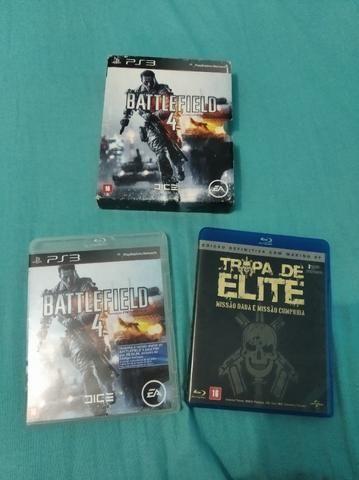 Jogo PS3 Battlefield 4 com Blu-Ray Tropa de Elite