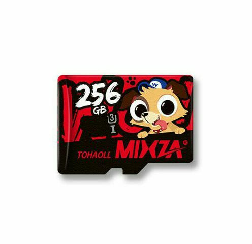 Cartão de memória mixza 256gb classe 10