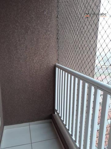 Apartamento com 2 dormitórios para alugar, 46 m² por R$ 900/mês - Vila João Ramalho - Sant - Foto 8