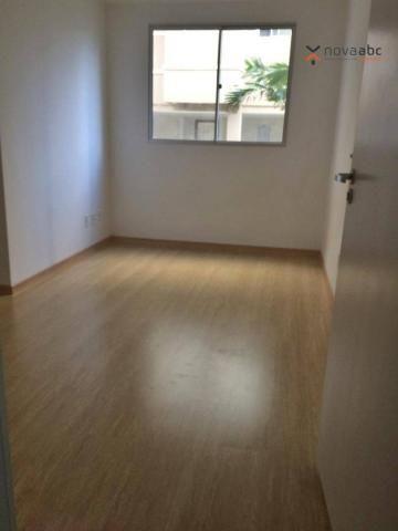 Apartamento com 2 dormitórios para alugar, 47 m² por R$ 1.300/mês - Vila Homero Thon - San - Foto 2