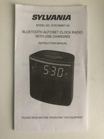 Rádio relógio com bluetooth e USB para carregar celular - Foto 5