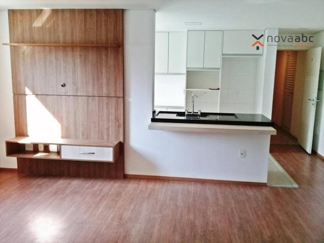 Apartamento com 3 dormitórios para alugar, 85 m² por R$ 2.500/mês - Jardim - Santo André/S