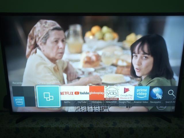 Smart tv samsung 48 polegadas com pezinho controle wifi integrado