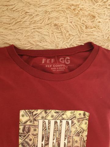 Camiseta fef vermelha tamanho g super estilosa no precinho - Foto 2