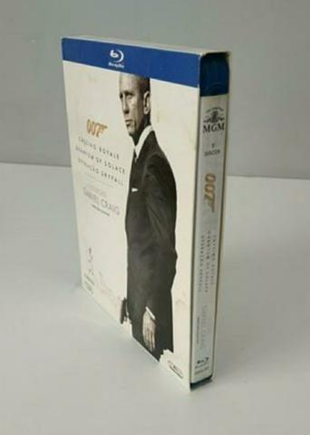 Box Blu-ray 3 filmes 007 Daniel Craig