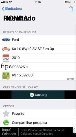 Ford Ka 2010 1.0 8v Zetec Rocam Flex - Troco por Moto - Foto 11