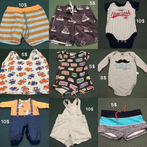 Lote com roupas