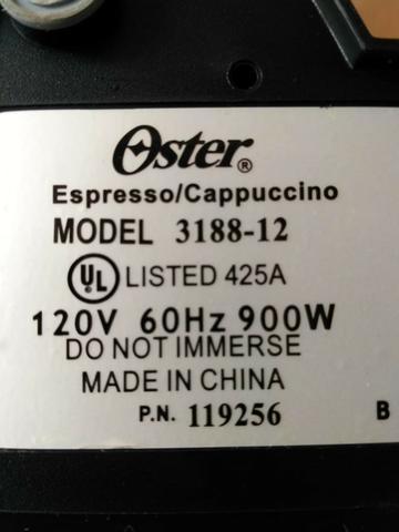 Cafeteira Expresso/Cappuccino Oster