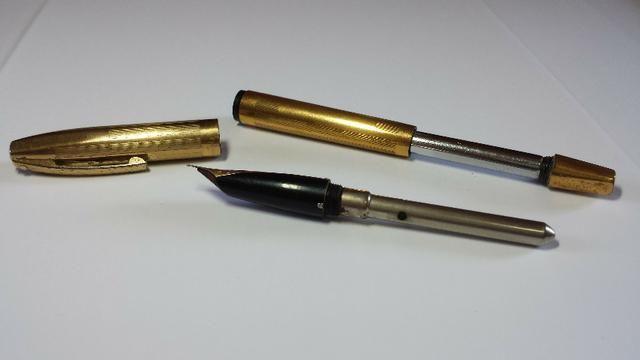 Caneta tinteiro Sheaffer Ouro 23k Anos 50/60 usa