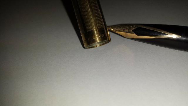 Caneta tinteiro Sheaffer Ouro 23k Anos 50/60 usa - Foto 5