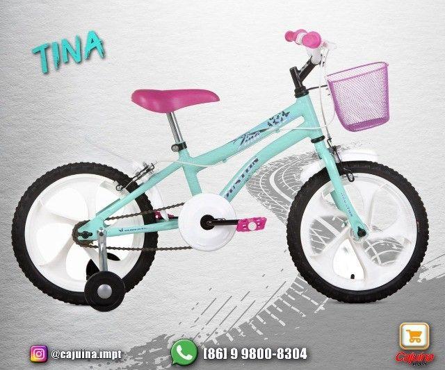 Bicicleta Infantil Aro 16 Houston Rosa  M09sd10sd21 - Foto 3