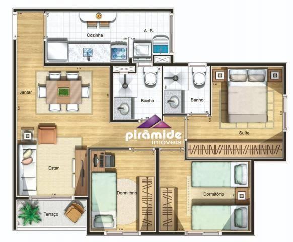Apartamento com 2 dormitórios à venda, 55 m² por r$ 265.000,00 - jardim augusta - são josé - Foto 20