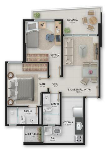 Troco ou vendo apartamento de 2 quartos