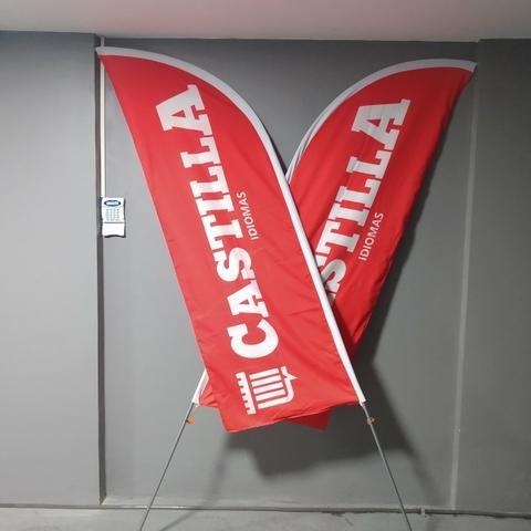 Banner,wind banner, flag banner 250 reais - Foto 2