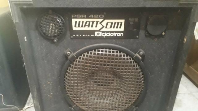 Cabeçote wattsom pra 420 mais caixa com falante - Foto 2
