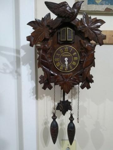 Antigo Relógio De Parede Cuco Madeira Herweg Para Restauro - Foto 5