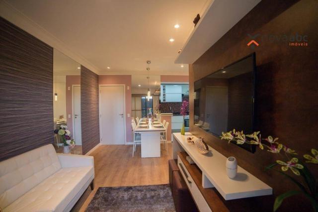Apartamento com 2 dormitórios e varanda gourmet para alugar, 70 m² em condomínio completo  - Foto 4