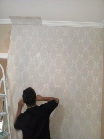 Aplicativo de papel de parede e tecido