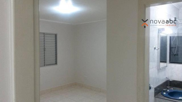 Apartamento com 1 dormitório para alugar, 58 m² por R$ 1.300/mês - Vila Floresta - Santo A - Foto 9