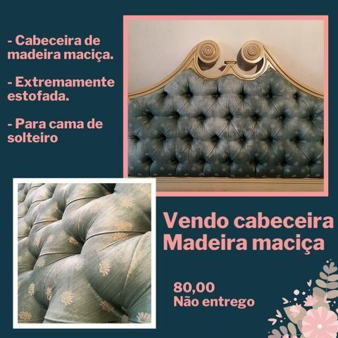 Vendo cabeceira de solteiro - Madeira maciça