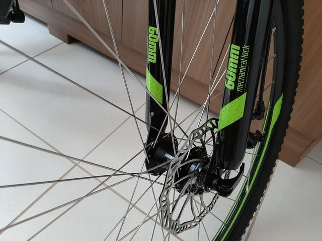 Bicicleta Caloi 29 Suspensão c/Trava Freio a Disco (Lacrada) Nota Fiscal - Foto 6