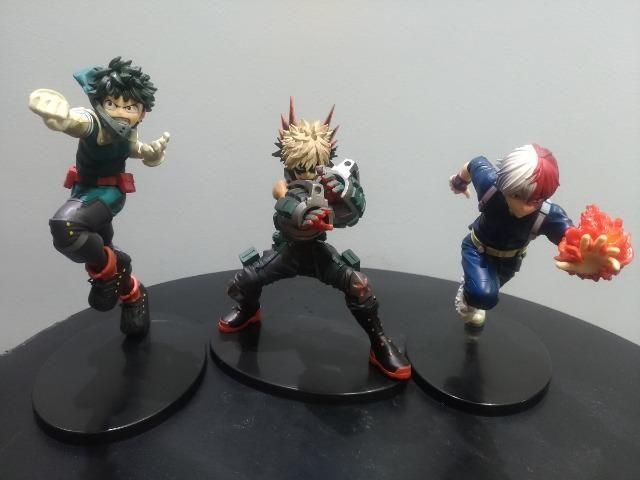 Promo Black Action Figure Boku No Hero Midoriya, Bakugo e Todoroki