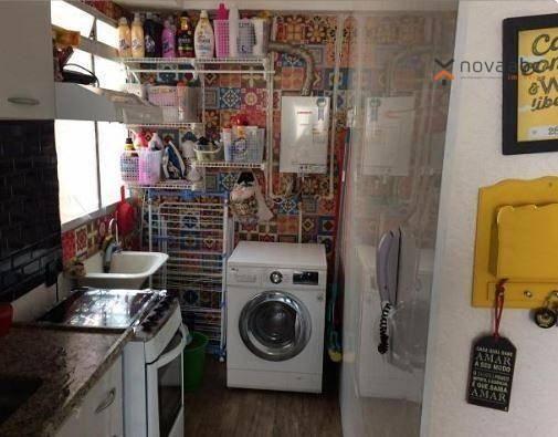 Apartamento com 2 dormitórios para alugar, 40 m² por R$ 850/mês - Vila Lutécia - Santo And - Foto 3