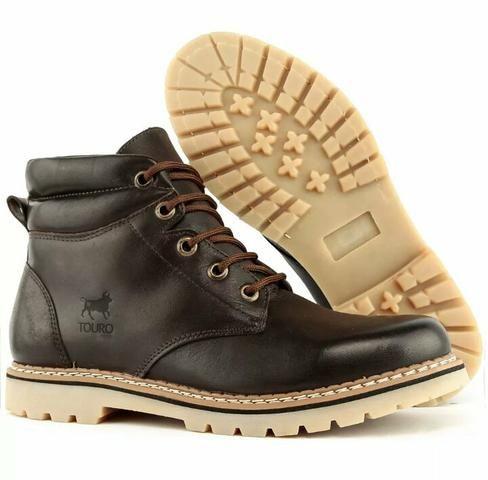 Promoção bota de couro legítimo 159